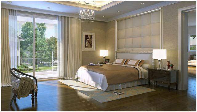 Đầu giường không nên đặt đối diện với cửa phòng